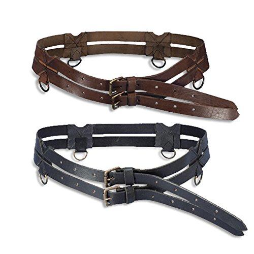 Preisvergleich Produktbild Ledergürtel Twin Belt - schwarz