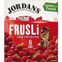 Jordans Bares Frusli Jugosas Bayas Rojas De Cereales (6X30g) (Paquete de 6)