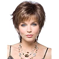 Fleurapance corti lisci stile super Natural donna Bob Bobo testa ricci  riccioli ondulati Wave Fashion Charming 1480b06b4123