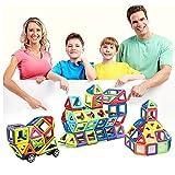 muitobom magnetisch Bausteine Set, 72Teile magnetisch Konstruktion Stapeln, Bildungs-Spielzeug für Kinder mit Box und Aufkleber