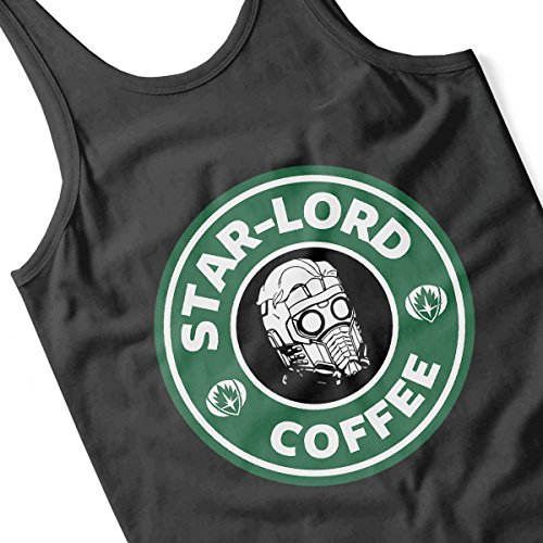 Guardians Of The Galaxy Star Lord Coffee Starbucks Women's Vest Black
