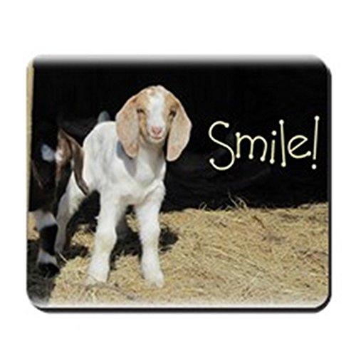CafePress–Baby Ziege Smile.–rutschfeste Gummi Mauspad, Gaming Maus Pad