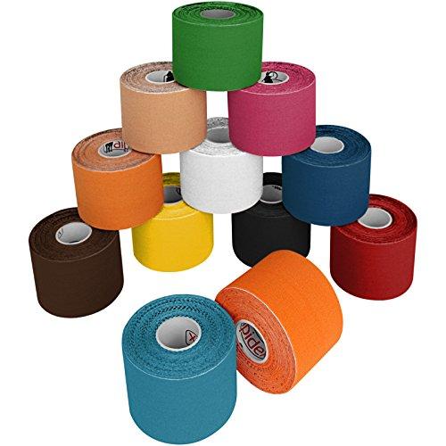 ALPIDEX Cinta Kinesiología 5 m x 5 cm de Diferentes Colores Cinta Kinesiología 5 m x 5 cm de Diferentes Colores, Color Colores Surtido;Cantidad:12 Rollos