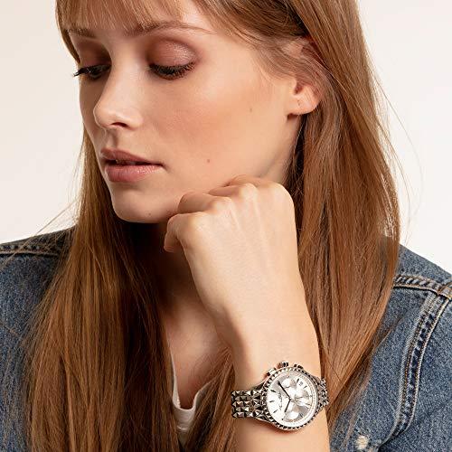Thomas Sabo Womens Chronograph Quartz Watch with Stainless Steel Strap WA0345-201-201-38 mm