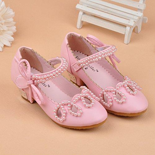 O&N Prinzessin Gelee Partei Absatz-Schuhe Sandalette Stöckelschuhe für Kinder Rosa