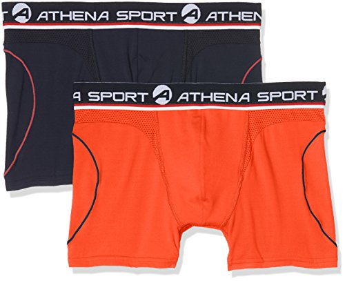 Athena Herren Badehose Multicolore (Marine/Orange 0800)