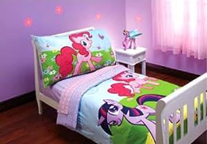 mon petit poney ensemble de literie tout petit 4 en 1 set couette drap housse drap d. Black Bedroom Furniture Sets. Home Design Ideas