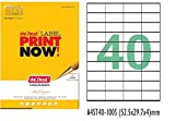 Desmat A4 Size Paper Labels Sticker For Laser, Inkjet & Copiers (40 Label Sheet)100 Sheets)