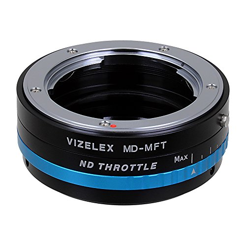 Black Magic Filter (Vizelex ND Throttle Lens Mount Adapter from Fotodiox Pro - Minolta MD (MC, SR, Rokkor) Lens to Micro-4/3 Mount Cameras (such as OM-D E-M10, Lumix GH4, and Black Magic Pocket Cinema Camera) - with Built-In Variable ND Filter (ND2-ND1000))