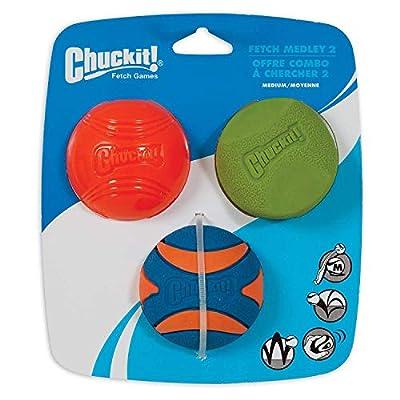 Chuckit! Fetch Medley 2 Pet Toy Balls, Medium from Chuckit!