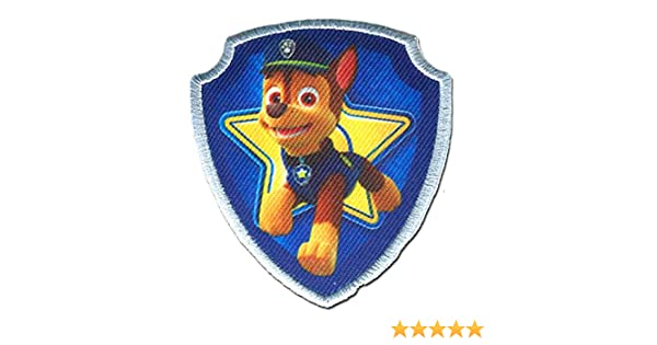 Paw Patrol La Pat Patrouille Chase 6,1 x 7 cm bleu Ecusson patches brode appliques embroidery thermocollant /© 2016 Spin Master PAW Productions Inc