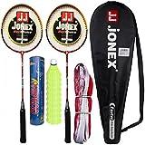 HIPKOO Jonex Fear Faster Badminton Complete Set (2 Racket, Pack Of 10 Shuttlecocks And Net) Badminton Kit