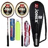 #5: HIPKOO Jonex Fear Faster Badminton Complete Set (2 Racket, Pack Of 10 Shuttlecocks And Net) Badminton Kit