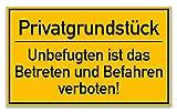 KAVARO Schild Privatgrundstück [25x15cm] Hartschaumplatte