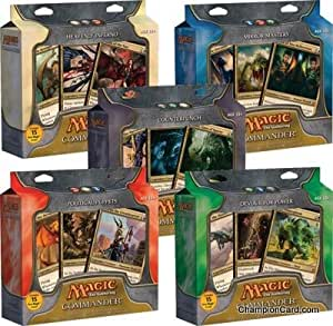 Commander Deck Box - English - All 5 Decks - Magic: The Gathering - Heavenly Inferno, Mirror Mastery, Counterpunch, Political Puppets, Devour for Power