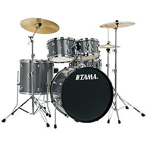 Tama Rhythm Mate Stile Giocattolo Set (5pezzi) con 50,8cm (20pollici) BASS DRUM incluso dreiteiligem Set di piatti/6pezzi hardware, Galaxy Silver