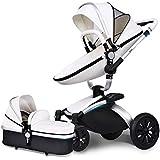 AiQi - Sistema de viaje 3 en 1, silla de paseo, carrito con capazo,ángulo de 360 grados color