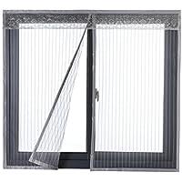 Icegrey Fliegengitter Tür Fenster Insektenschutz Magnet Fliegenvorhang Für Schiebefenster Dachfenster Ohne Bohren Fliegenvorhang Magnetvorhang Moskitonetz Grau 80x140 cm
