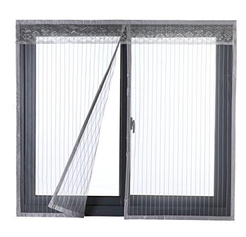 Icegrey zanzariera magnetica per porte finestre tenda zanzariera con magneti rete anti zanzare zanzariera 90x120cm grigio