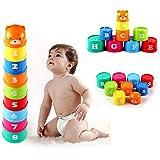 Vale® 1 Conjunto bebé niños juguetes educativos Niños Figuras Cartas plegable Copa Pagoda GOCG
