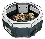 Welpenauslauf Freigehege Hunde Box Laufstall Welpenzaun Welpen Gitter Freilaufgehege Laufheck / Grün-Beige / S - L