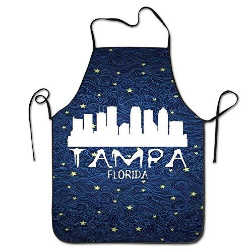 City Kostüm Party Kinder Katze - best gift Tampa City Skyline Silhouette BBQ Kitchen Cooking Apron