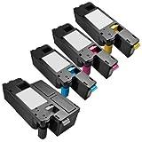 LABT Toner Kompatibel für Dell 1660 C1660 C1660W | 4er Set | Schwarz, Cyan, Magenta, Gelb | 59311130 59311129 59311128 593211131