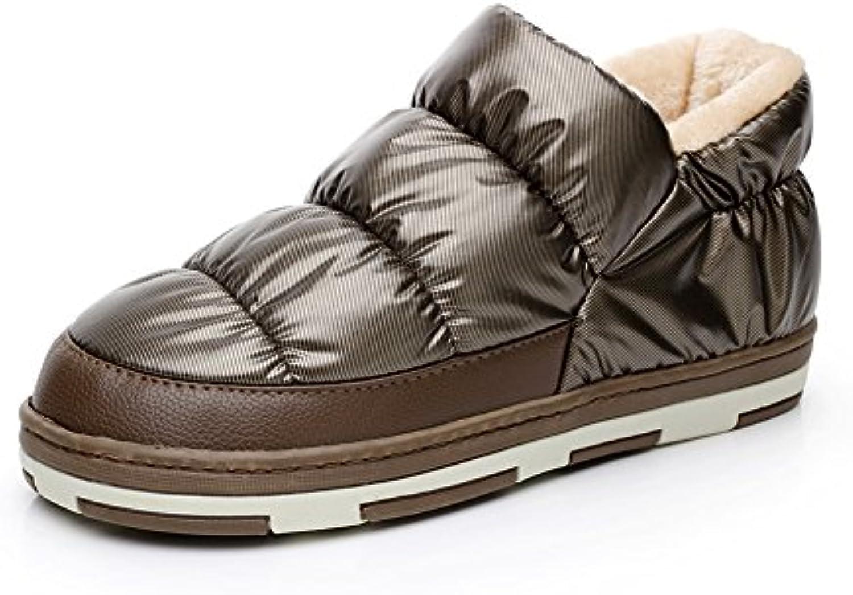 Polliwoo Zapatillas de Algodón Para Hombres Fluff Invierno Casa Calzado -