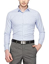 STOP to start Stop by Shoppers Stop Mens Slim Collar Printed Shirt (203453417_Blue_44)