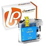 Bubprint Druckerpatrone kompatibel für Brother LC-223 LC-225 LC-227 für DCP-J4120DW DCP-J562DW MFC-J4420DW MFC-J4620DW MFC-J480DW MFC-J5320DW Cyan