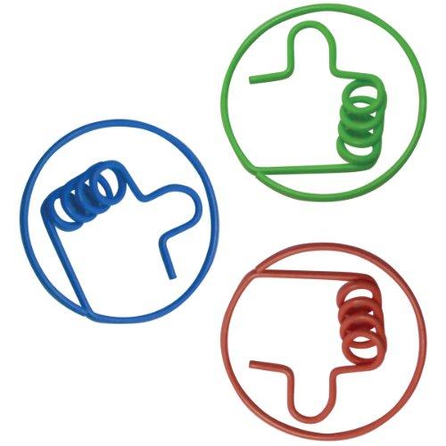 Baumgartens 24320Lustige Formen Daumen geformte Papier Clip, 12,7cm Höhe, 10,2cm Breite, 1,3cm Länge (20Stück) (Geformt Daumen)