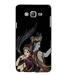 Fuson Designer Back Case Cover for Samsung Galaxy On5 Pro (2015) :: Samsung Galaxy On 5 Pro (2015) (Radha Krishna Theme)
