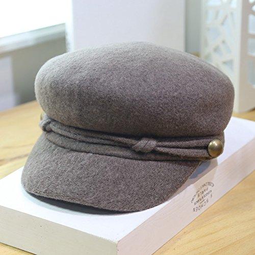 r Hat Beret Cap Kunst Retro Maler Cap, Khaki (Maler Hüte)