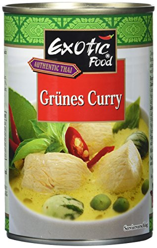 Exotic Food Grüne Currysauce Fix+Fertig, 6er Pack (6 x 410 g Dose)