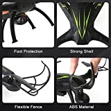 Beebeerun Drone 2.4GHz Wifi RC Helicopter with HD Camera FPV Version Kids Training Quadcopter for Beginners Long Flight Time Altitude Hold 3D Flips Headless Mode APP & Transmitter Remote Control,Black