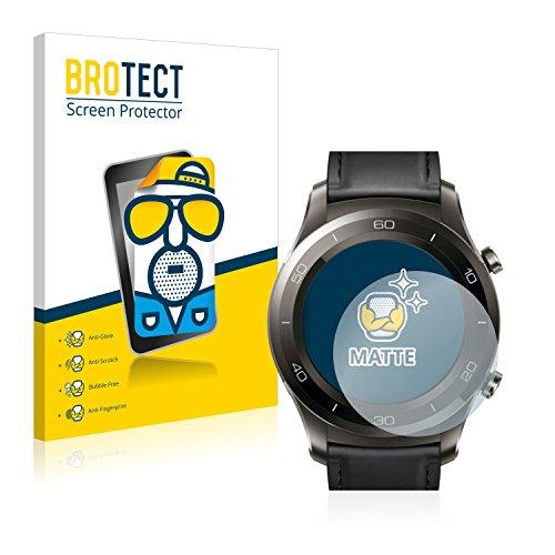 2x BROTECT Matte Protector Pantalla para Huawei Watch 2 Classic Protector Mate, Película Antireflejos