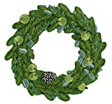 Application Christmas Door Wreath Patch