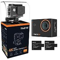 Action Cam ThiEYE i60+ 4K Ultra HD 60 metri 12MP Telecamera impermeabile per casco WiFi Action Camera 170° Grandangolo / Schermo LCD da 2 pollici / Controllo APP / 2 Batterie ricaricabili / Completamente accessoriata (i60+)