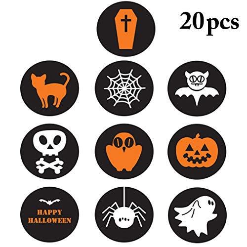 Siegel Aufkleber Assorted Adhesive Seal Label Gift Sticker für Halloween ()