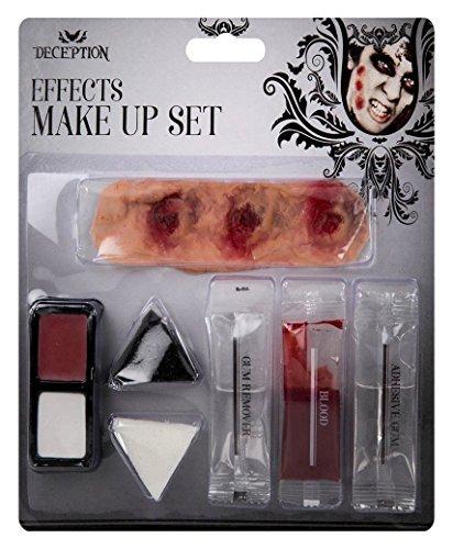 LotMart Halloween Make-Up Satz Gesichtsfarbe Vampir Zombie Horror Geist Kostüm Set und gratis Geschenk LotMart Promotion Stift pro Päckchen - ()