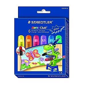 Staedtler Noris Club 2390M C6. Ceras con textura gel. Pack con 6 unidades de colores con purpurina variados.
