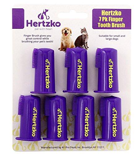 Hertzko - Pack de 7 cepillos de dientes de dedo -...