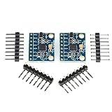 2x MPU-6050 Modul, 3-Achsen-Gyroskop und 3-Achsen-Accelerometer/Beschleunigungssensor/Neigungssensor, I2C, z.B. für Arduino, Genuino, Raspberry Pi (2 Stück)