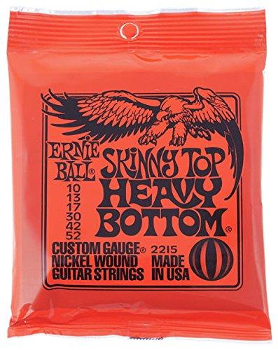 CUERDAS GUITARRA ELECTRICA - Ernie Ball (2215) Slinky Top Heavy Botton Color Rojo (Juego 010/52E)