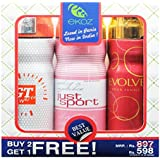 Ekoz (Paris) Gt White,Just Sport Femme & Evolve Femme Deodorant - 200 Ml Each