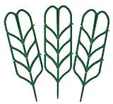 Buri Mini-Pflanzenrankhilfe 3er-Set Blumenspalier Rankgitter Kunststoff Pflanzgitter