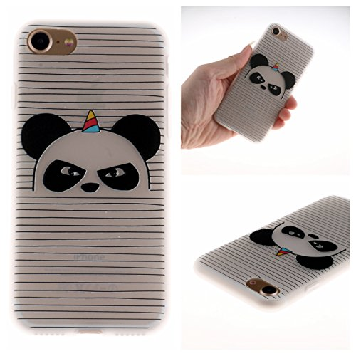 iPhone 7 Hülle, Voguecase Silikon Schutzhülle / Case / Cover / Hülle / TPU Gel Skin für Apple iPhone 7/iPhone 8 4.7(Lace Teppich 06) + Gratis Universal Eingabestift Angry Panda