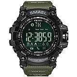 SMAELBand 50M Swim Dress Sportuhren Armee Grün Art Bluetooth Verbindungs intelligente Uhren Männer Digital Sport,Army