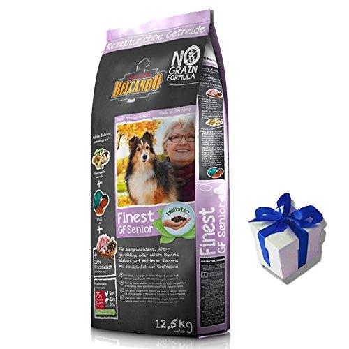 12,5 kg Belcando Finest GF Senior getreidefreies Premium Hundefutter + Geschenk