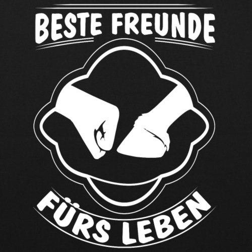 Spreadshirt Pferd Reiter Reiterin Beste Freunde Fürs Leben Bio-Stoffbeutel Schwarz